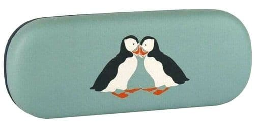 Puffin Glasses Case Ladies Blue Sunglasses Specs Hard Box RSPB Cute Puffins Bird